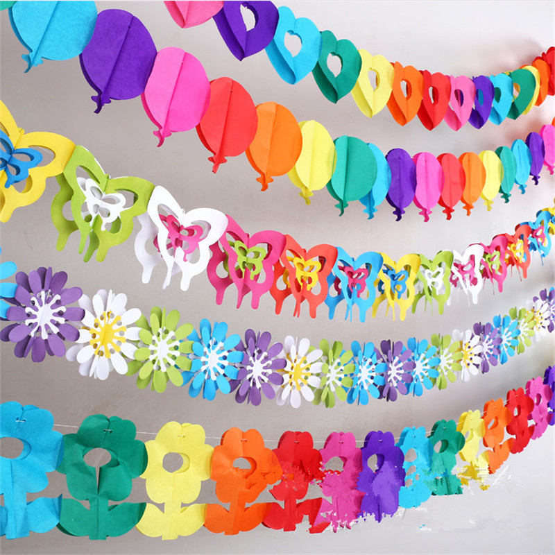 Colorful Baby Shower Paper Flowers Event Party Supplies Artificial Flowers Birthday Party