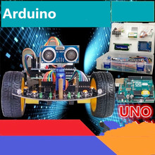Arduino smart car tracking intelligent vehicle obstacle avoidance UNO R3 entry learning robot kit