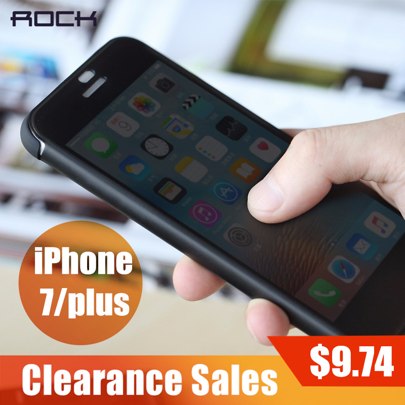 Clearance Sales Flip Cover for iPhone 7 7 plus, ROCK Invisible window full screen protection Phone flip case for iPhone 7 7 plus