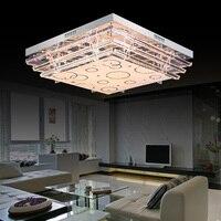Простые современные светодиодные потолочный светильник прямоугольный кристалл лампы гостиной освещения спальни дома sj1 свет ya74