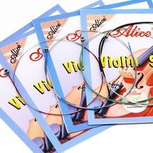 1 шт. Струны для скрипки E A D G для 1/8 1/4 1/2 3/4 4/4 общий размер-Alice A703 аксессуары для скрипки