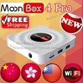 MoonBox New2017 PRO pro 4 M3S tvpad4 TVPAD TV inteligente Não Taxa mensal de Canais de TV Chinesa Hong Kong Taiwan TV & HD Moive Frete grátis
