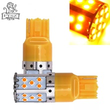 2PCS T20 7440 led vehicle light 35smd high brightness decoding turn signal vehicle taillight with constant current yellow light