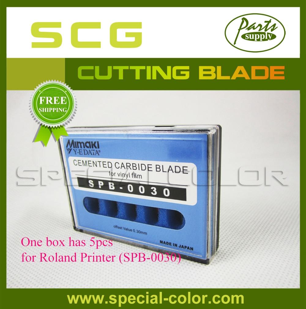 One box has 5pcs, High Quality Cutting Blade for Mimaki Cutter Plotter CJV30 (SPB-0030)