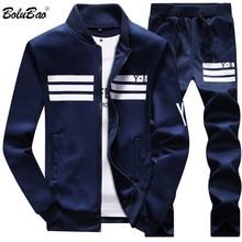 Bolubao אביב גברים סט באיכות צמר סווטשירט + מכנסיים זכר אימונית ספורט זיעה חליפות Mens Survetement ספורטpants malepants pantssweatshirt sweatshirt