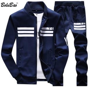 Image 1 - Мужской спортивный костюм Bolubao, толстовка с флисовой подкладкой и штаны, спортивная одежда для весны