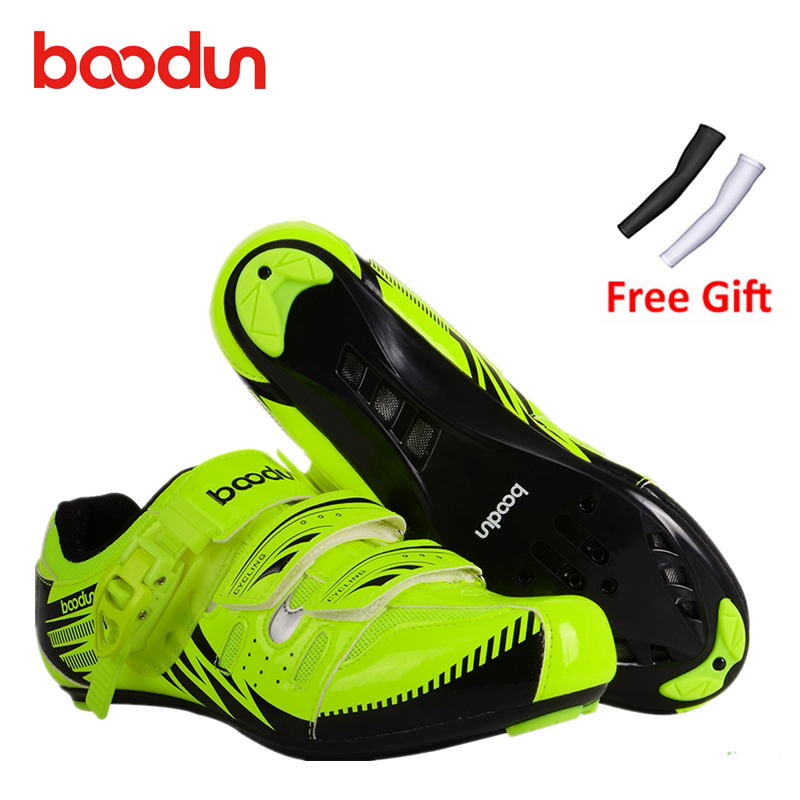 Boodun New Breathable Professional Self-locking Cycling Shoes 46 MTB Bicycle Shoes Non-slip Bike Shoes Sapatos de ciclismo 5 racmmer cycling gloves guantes ciclismo non slip breathable mens