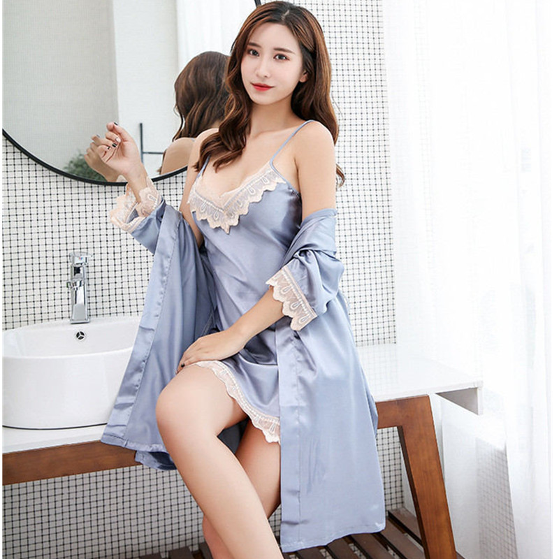New Women Nightdress Sexy Lingerie Lace dress V Neck Woman Sexy Nightgown Sleepwear Chemise Sexy Lingerie AD0308