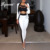 Bqueen vestido 2017 Nova Moda Elegante Branco Formal Duas Peças Pant ternos Set Para As Mulheres de Negócios Dupla Breasted Com Bolsos Quentes venda