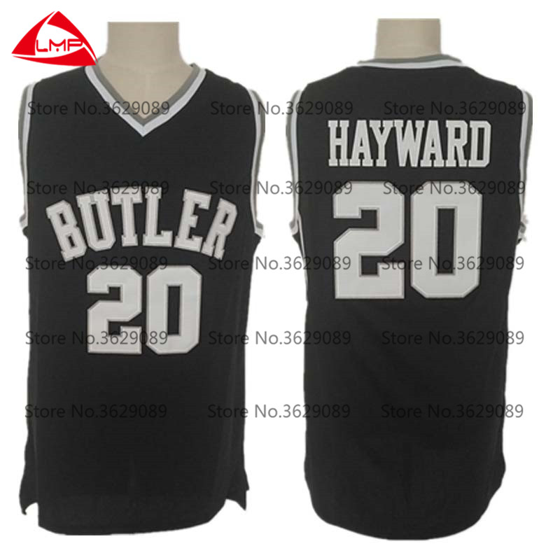 brand new 24a62 7432c Gordon Hayward Jersey Butler Bulldogs 20# Black Stitched Basketball  Jerseys-in Basketball Jerseys from Sports & Entertainment on Aliexpress.com  | ...