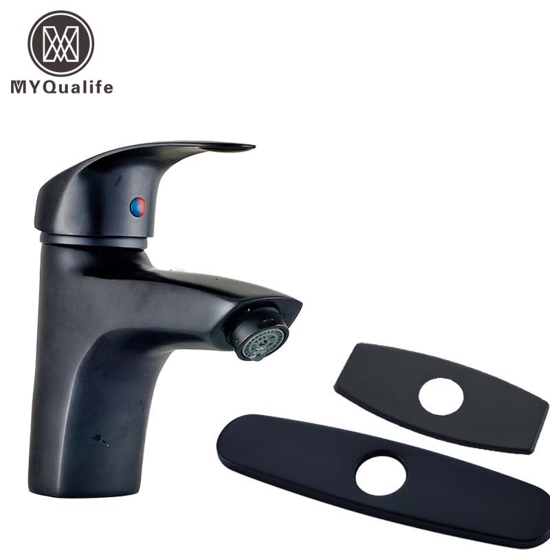 Deck Mounted Free Shipping Brass Basin Vanity Sink Faucet Oil Rubbed Bronze Black Bathroom Sink Mixer Taps free shipping two cross handle basin vessel sink taps deck mounted brass hot and cold washing basin faucet