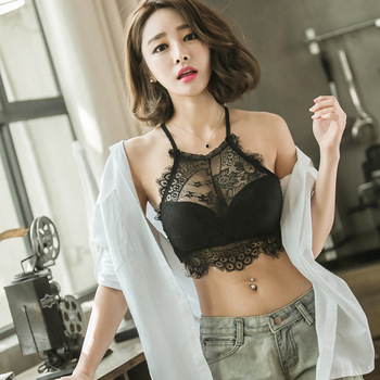 Brassiere Bra for Females Bandeau Tube Tops Women Sexy Underwear Prevent Exposed Lace Wrapped Chest Black - discount item  50% OFF Women's Intimates