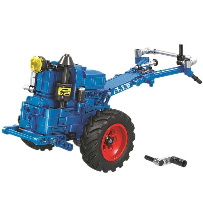 Pemenang Teknik Kota Berjalan Traktor Blok Bangunan Set Batu Bata Klasik Model Mobil Mainan Anak-anak untuk Anak-anak Hadiah Kompatibel 7069
