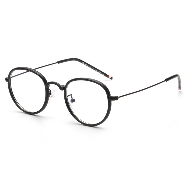 dc9461d2e95 Round Curved Bridge Vintage Retro Metal Full Rim Optical Prescription EYEGLASSES  FRAMES Men Women S22102 Spectacle TB106 Eyewear