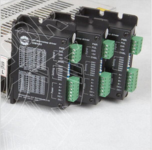 Qualité supérieure! ACT 3 axes moteur pas à pas pilote DM420 36 V 1.7A 128 Micro + carte de rupture CNC routeur pour Nema11 16 17 moteur pas à pas