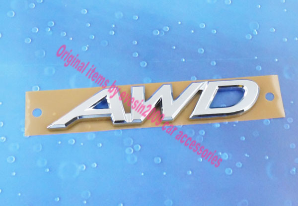 Auto car Chrome AWD for CX-5 trunk Emblem Badge Sticker auto chrome for 2008 2013 genesis front rear wing emblem badge sticker