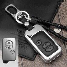 Кожаный чехол для ключей автомобиля держатель для Toyota Land Cruiser Prado 150 Camry Prius Crown для Subaru 2013 2014 Foreste Outback XV ключ сумка
