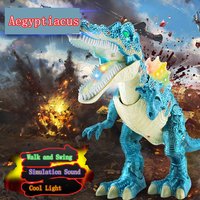 Children S Electric Dinosaur Toys Walk Light Simulation Dinosaur Animal Model Puzzle One