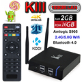 2 GB 16 GB S905 KIII Android TV Box Amlogic Quad Core 4 K H.265 Reproductor Multimedia 2.4G/5G Dual Wifi Bluetooth Kodi Profesional TVbox