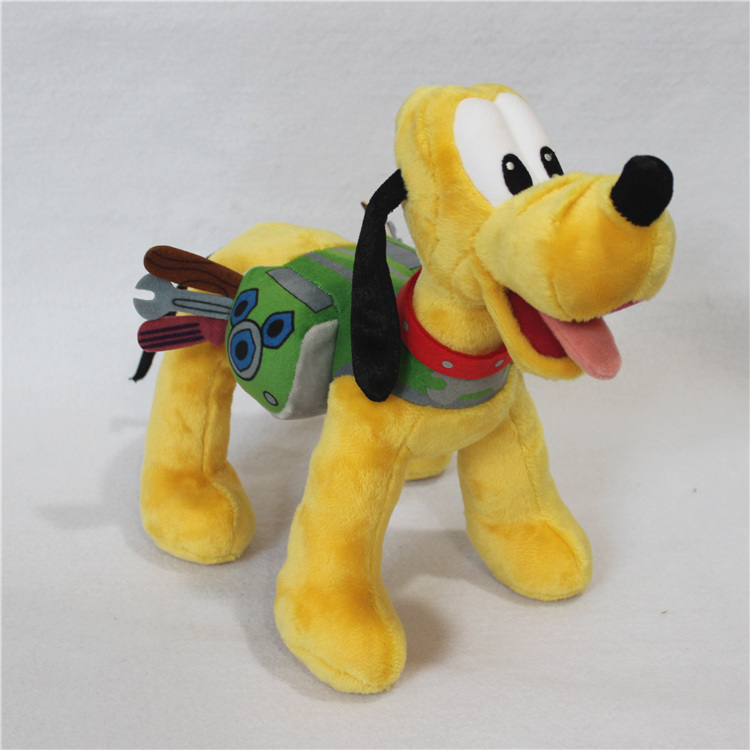 1pcs 30cm engineer pluto stuffed toys Original Mickey Clubhouse Pluto Plush Toys Pluto Dog Puppy soft Stuffed Animal Doll