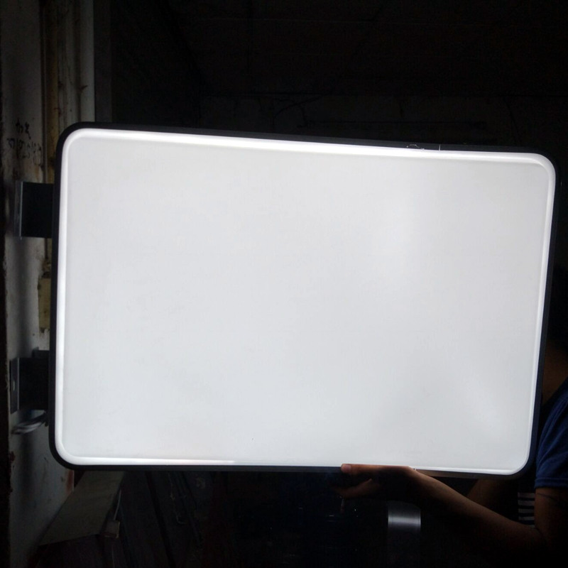 Exterior Led Light Box: High Brightness Blank Rectangular Projecting Outdoor