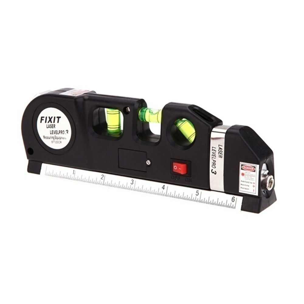 Лазерный уровень Вертикальная измерительная лента Отрегулированная многофункциональная стандартная линейка горизонтальные лазеры линии инструмент + штатив