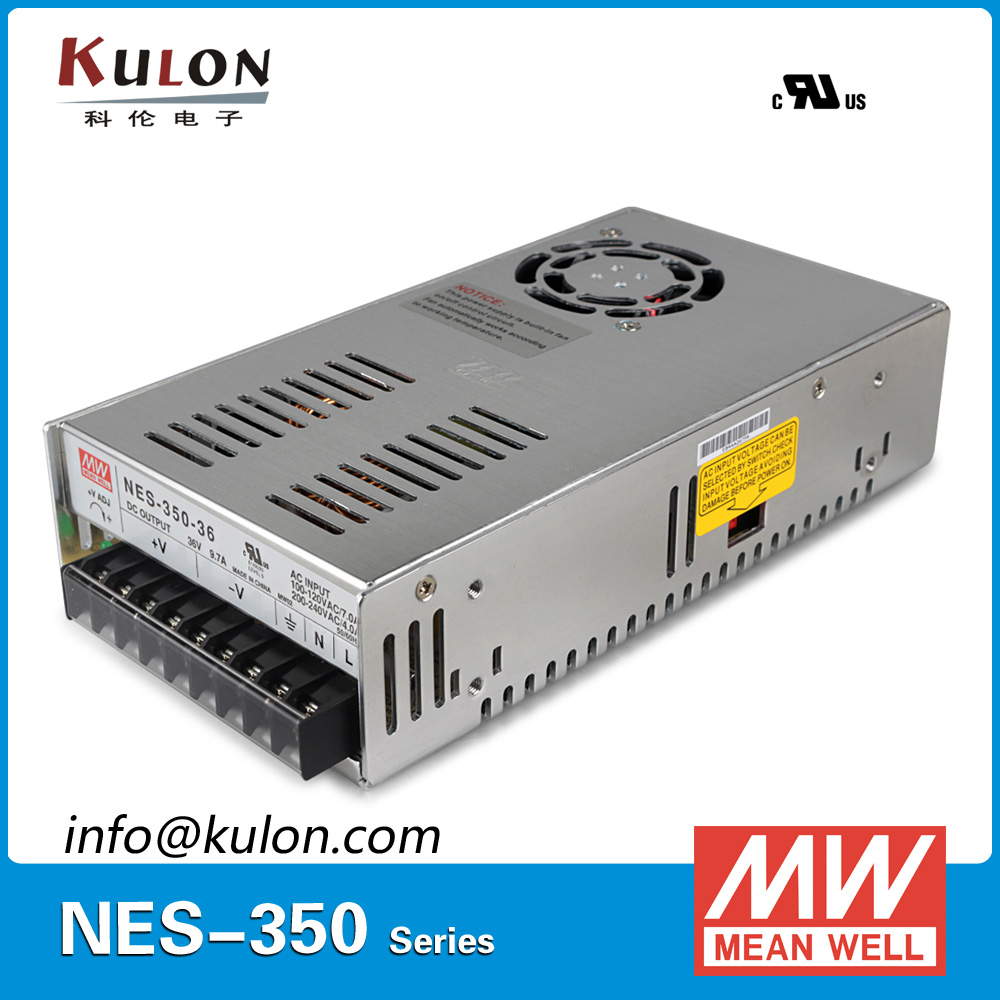 Original Meanwell NES-350-36 AC to DC single output 350W 9.7A 36V Mean well Power Supply NES-350 meanwell 12v 75w ul certificated nes series switching power supply 85 264v ac to 12v dc