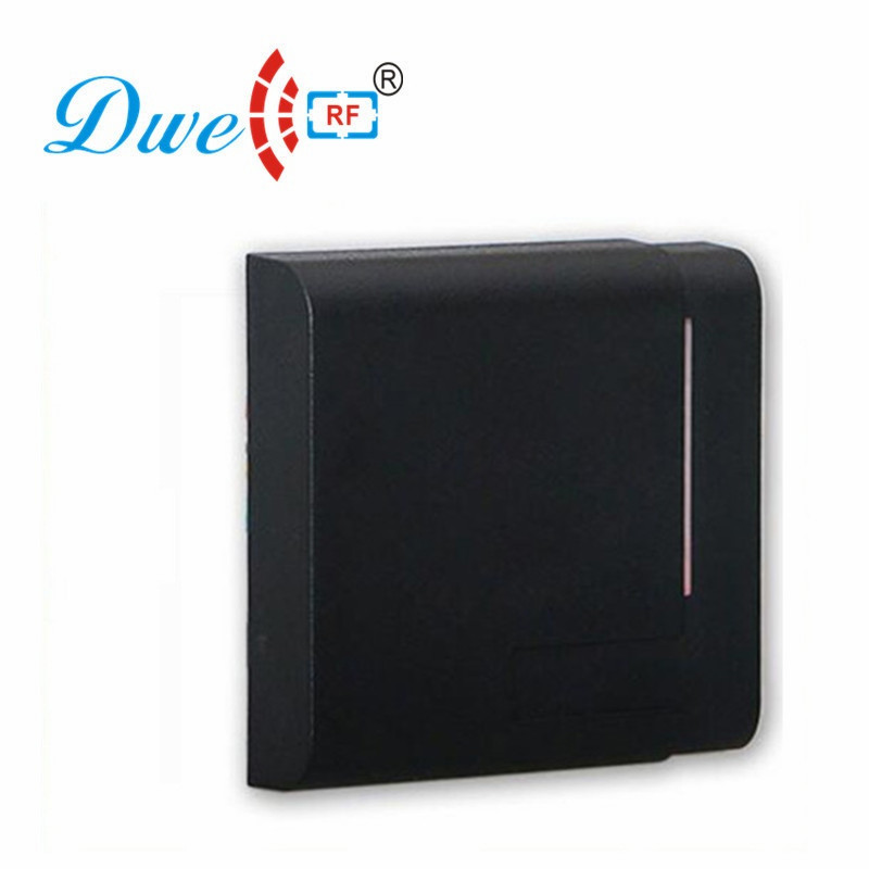 DWE CC RF Contactless Waterproof Rfid Card Reader 13.56Mhz Proximity Rfid Reader For Access Control System D1002-M waterproof touch keypad card reader for rfid access control system card reader with wg26 for home security f1688a