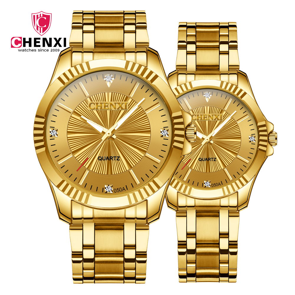 New Couples Watch Wedding Couple Watches For Lovers Gift 30M Waterproof Alloy Belt Clock Man And Ladies Dress Men Wristwatch