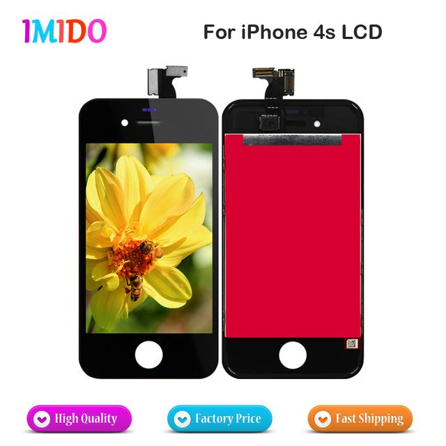 For Apple iPhone 4S LCD Display Touch Screen With Digitizer Display  Assembly Complete Replacement AAA quality fast delivery 1b63c06d5f