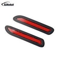 1Pair 12V 5W Universal Car Rear Bumper Red Led Fog Brake Light Lamp Warning Lights Drving