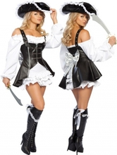 FREE PP! Sexy Womens Spanish Pirate Captain Wench Halloween Costume Pirate Fancy Dress