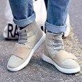 2017 Nueva Primavera Otoño Del Top Del Alto Botines de la marca de lujo 750 masculino esportivo Casual Zapatos planos para el Amante pareja