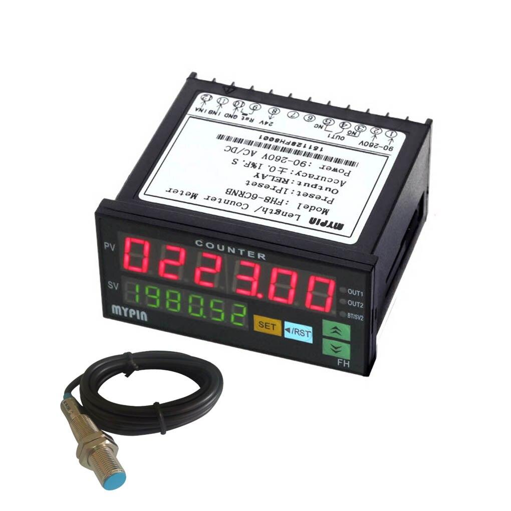 MYPIN FH8-6CRNB 6 compteur numérique avec détecteur de proximité NPN Mini compteur de longueur électronique