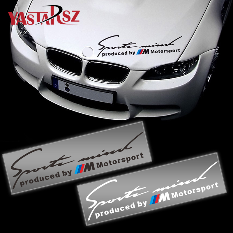Car Sport Stickers Decal On Car Covers Car Styling For bmw e46 e39 e36 e90 e60 x5 e53 e30 f10 f30 M power Mpower car accessories защитные аксессуары car pakistan bmw alpina