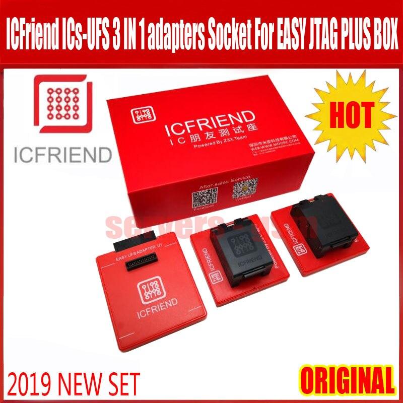2020 NEW ORIGINAL UFS adapters socket ICFriend ICs-UFS 3 IN 1 support UFS BGA254 BGA153 BGA9 with EASY JTAG PLUS Box work(China)