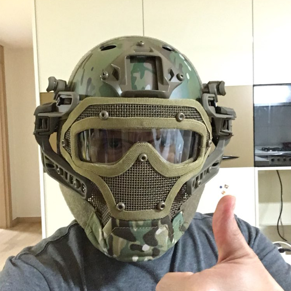Airsoft Helmet With Face Shield
