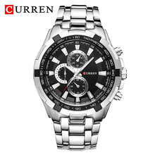 CURREN 8023 Quartz Watch Men Waterproof Sport Military Watches Mens Business Stainless Steel Wristwatch Male Clock reloj hombre