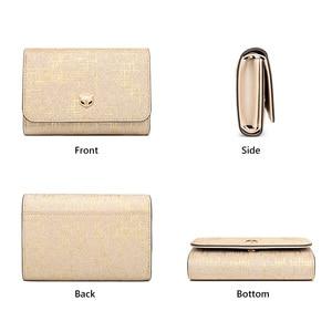 Image 3 - Foxer damski luksusowy portmonetka damski portfel na karty Split skórzany damski portfel damski Chic mała kieszonka na monety