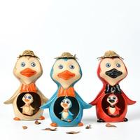 cute cartoon Frog Owl Penguin ceramic craft figurine home decor animal porcelain decorations ornament children birthday gift