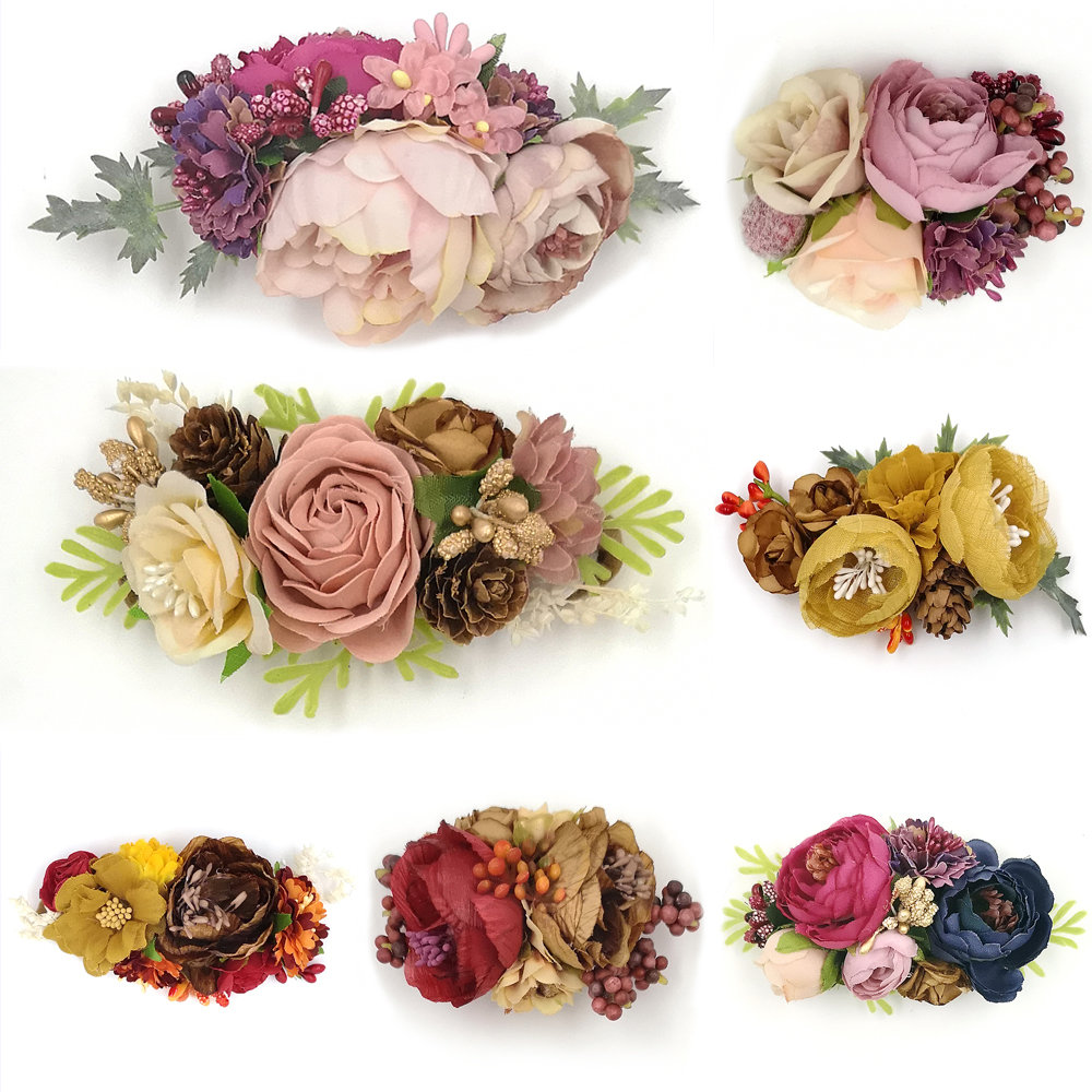 Baby Flower Nylon Headband Baby Girls Floral Wreath Newborns Headbands Infrant Photography Props Hair Accessory Kidocheese