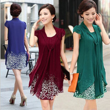 Summer  2016 Fashion Brand Clothing Women Dress  Sexy Printed Scarf Elegant Ladies Blouse Short Sleeve Vestidos Plus Size 1