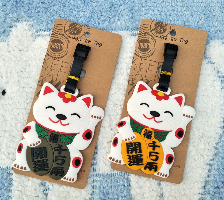 IVYYE Fortune Cat Anime Travel Accessories Luggage Tag Suitcase ID Address Portable Tags Holder Baggage Labels New