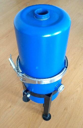 Vacuum pump gas water separator, gas-liquid separator oil-water separator, vacuum pump filter,Rc1 1/4 interface diameter vacuum pump inlet filters f007 7 rc3 out diameter of 340mm high is 360mm