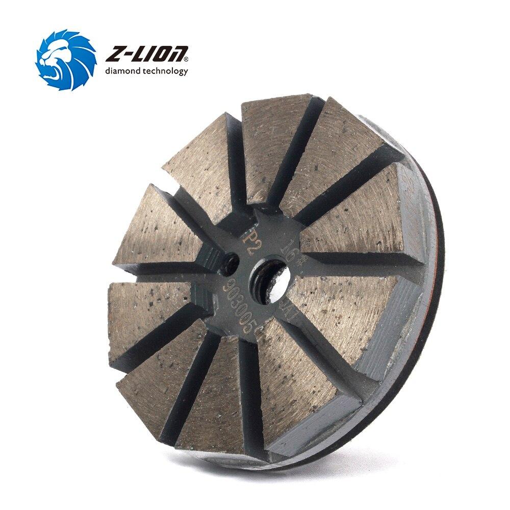 Z-Lion 3 Grit 16# Metal Diamond Tools For Concrete Polishing Grinding Disc Metal Bond Diamond Polish Concrete Polishing Tool 1pc 400 800 2000 3000 4000 10000 granularity diamond abrasive paste for jade or metal grinding and polishing