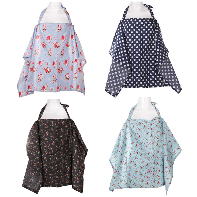 Nursing Covers Cotton Pregnant Breastfeeding CoverShawl Breast Feeding Covers Flower Printed Nursing Covers for Baby Feeding ...