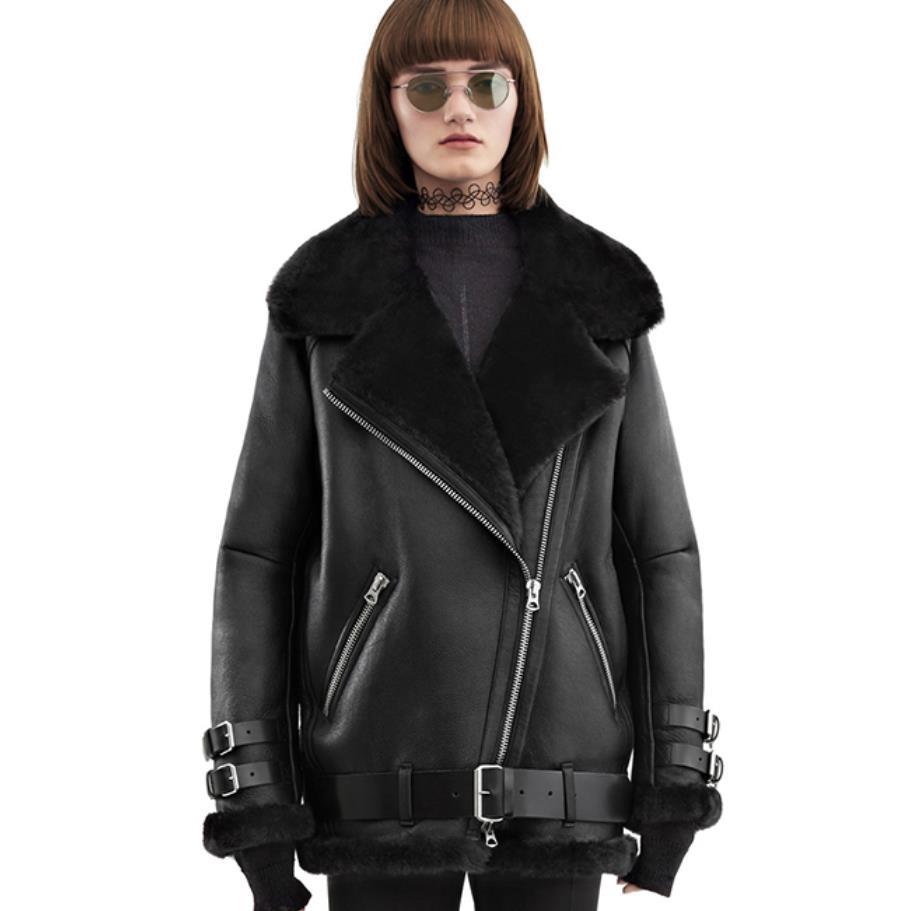 Femmes Vers En Le Manteau Agneau Cuir Pu Mode Cheveux Taille D'hiver 2xl Tournent Automne Plua Moto Et Bas Nouvelle Épais nYwHEpZHq