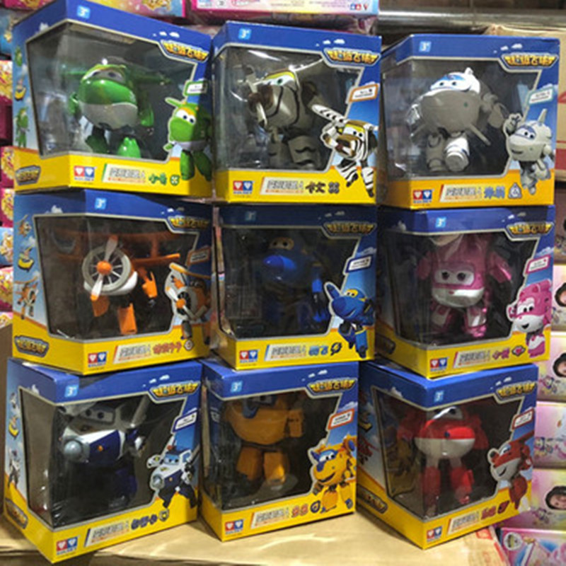 Grand!!! 15cm ABS Super ailes déformation avion Robot figurines daction Super aile Transformation jouets pour enfants cadeau Brinquedos