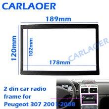 Auto rahmen für Peugeot 307 2001 2008 audio umwandlung dashboard panel rahmen auto radio größe 178*102mm 190*120mm 2 din Blenden