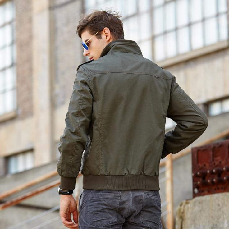 LONMMY M-4XL Markenkleidung Bomberjacke Herren Mantel Baumwolle - Herrenbekleidung - Foto 4